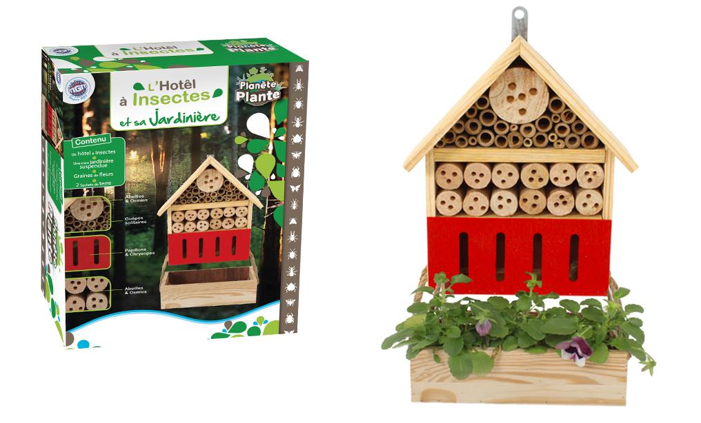 Maison pour insectes Planète Plante